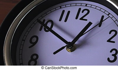 clock ticking backwards - Time concept back in time clock...