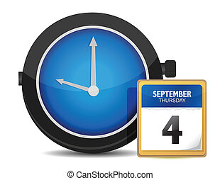 Time concept. Clock and calendar