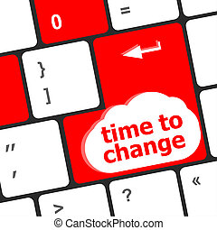 Time concept: computer keyboard word Time to change