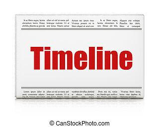 Time concept: newspaper headline Timeline