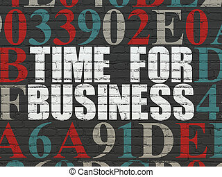 Time concept: Time for Business on wall background