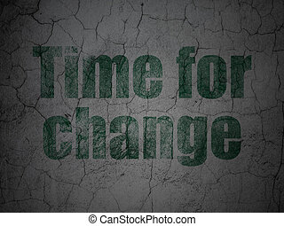 Time concept: Time for Change on grunge wall background