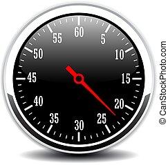 Time counter vector icon