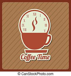 time design over brown background vector illustration