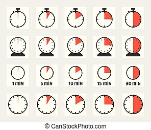 Time duration, pixel perfect icon set, size 128 px , 4 px...