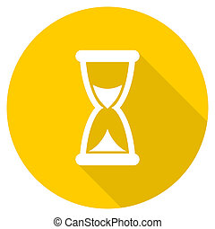 time flat design yellow web icon