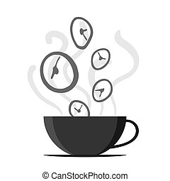 Time Fly By Off Coffee Cup