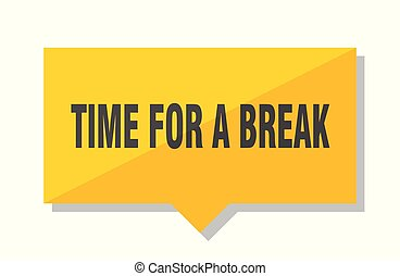 time for a break price tag