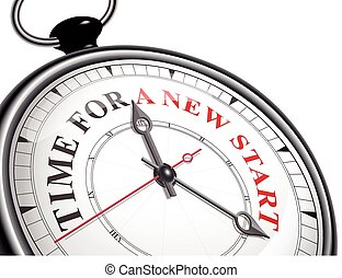 time for a new start concept clock