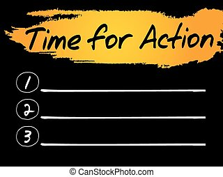 Time for Action Blank List