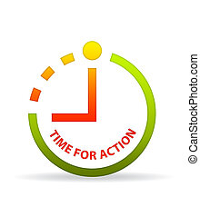 Time for action clock.