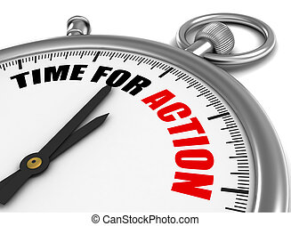 time for action concept 3d illustration