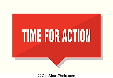 time for action red tag