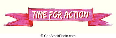 time for action ribbon