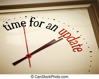 time for an update - An image of a nice clock with time for...