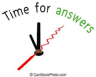 time for answers clock concept