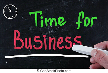 time for business concept