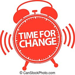 Time for change alarm clock icon, vector illustration