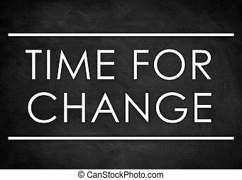 Time for change - chalkboard background