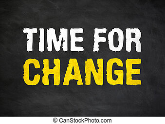 time for change - motivational message