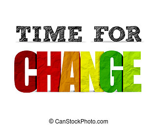 TIME FOR CHANGE motivational quote