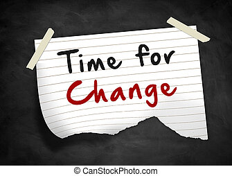 Time for Change - note message