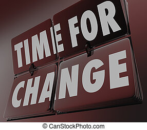 Time for Change Retro Clock Flipping Tiles Innovate Adapt