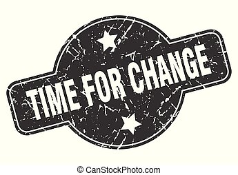 time for change round grunge isolated stamp