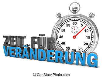 Time For Change Stopwatch - Stopwatch with german text Zeit ...