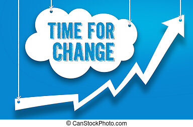 TIME FOR CHANGE word concept