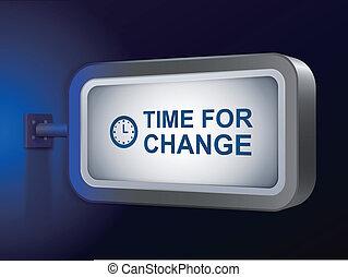 time for change words on billboard