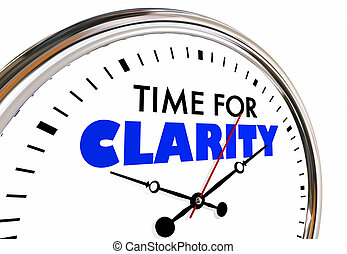 Time for Clarity Clock Clear Communication Message 3d...