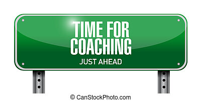 time for coaching road sign illustration design