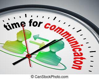 time for communication - An image of a nice clock with time...