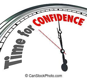 Time for Confidence Clock Words Good Positive Can Do Attitude