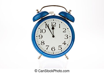 Time for decision. Five to zwa ? lf - 11:55 on a clock. Time...