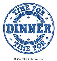 Time for dinner stamp - Time for dinner grunge rubber stamp ...