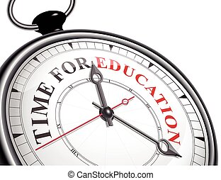time for education concept clock