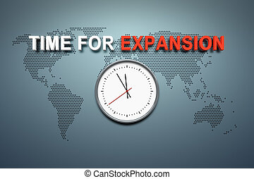 Time for expansion at the wall - A wall with the words time ...