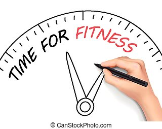 time for fitness written by hand
