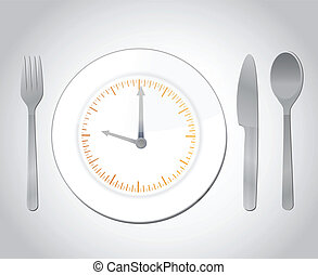 time for food concept illustration