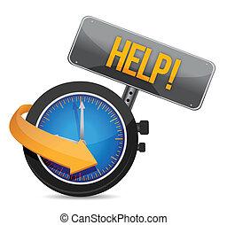 time for help illustration design