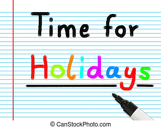 time for holidays