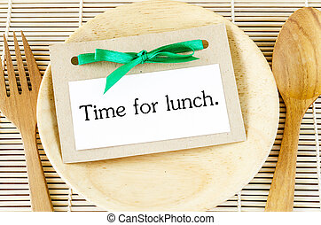 Time for lunch card