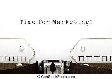 Time for Marketing Typewriter