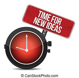 time for new ideas concept illustration design over white