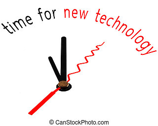 time for new technology clock concept