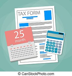 Time for pay taxes concept