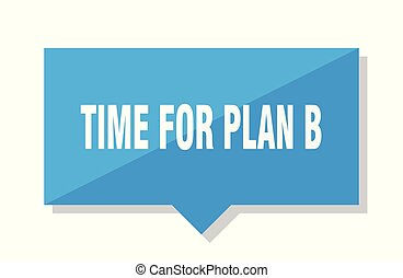 time for plan b price tag - time for plan b blue square...