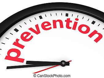 Time For Prevention Concept - Time for prevention, health...